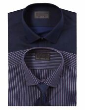 Single Cuff Striped Regular Long Formal Shirts for Men