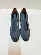 Angelo Luzio 902 Women's Size 7B Black Canvas Slip-On Ballroom Pumps Exam Shoes