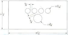 Dash Panel Insert 5 Gage Pattern 18 Gauge #4 Stainless Steel DSM DS299STA