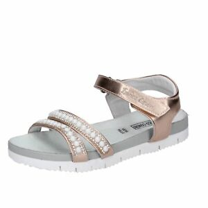 scarpe bambina ENRICO COVERI sandali rosa pelle sintetica strass BK515