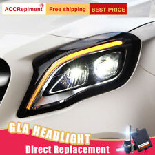 2Pcs For Benz AMG GLA Headlights assembly Bi-xenon Lens Projector LED DRL 15-19