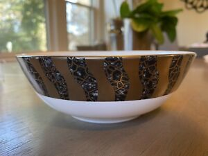 Michael Wainwright Mint Tempio Luna Soup or Cereal Bowl Onyx and Platinum