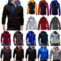 Mens Superman Baseball Coat Jacket Cosplay Sweatshirt Hoodie Zipper Tops Outwear