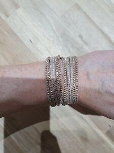 Swarovski wrap bracelet nude