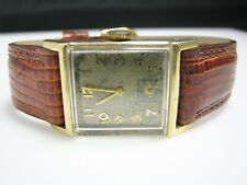H008 Unique Vintage Lord Elgin Mechanical Hand Wind Watch in 14k Yellow gold