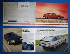 N°C.4149 / CITROEN CX catalogue tout modéles 06.84