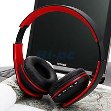 2x Foldable Wireless Bluetooth Headsets Stereo Headphone FM Earphone Universal