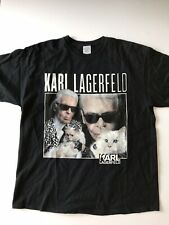 Karl Lagerfeld T-Shirt with Cat - Size XL - Very Cool! 100% Cotton