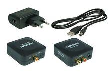 Digital zu Analog Konverter(D2) + 0,7m Cinch Kabel + 0,7m Toslink + USB-Netzteil