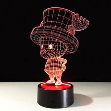 3D Nuit Lumière Lampe Acrylique One Tony Tony Chopper Piece Déco Famille Cadeau