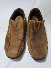 Skechers Mens Diameter Heisman 61779 Loafers Size 10.5 Brown Leather
