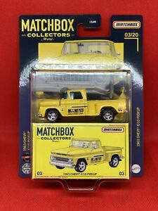 MATCHBOX COLLECTORS SERIES 2021 1963 CHEVY C10 PICKUP MOONEYES 03/20 Rubber Tyre