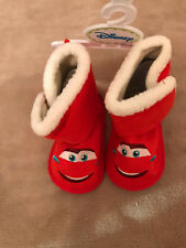 Disney Pixar Cars Lightning McQueen Red Booties, Size 3-6 mos., Nwt