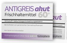 """Witzige Geschenkidee zum Geburtstag """"ANTIGREIS akut - für alle ab 60"""""""