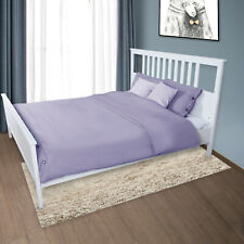 3 Piece Soft Down Quilt Cover Bedding Cover Sets,Solid Button ,Light Purple,Twin