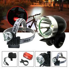 Rechargeable LED Mountain Bike Flashlight Front Lamp Headlight Head Torch Light