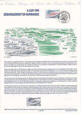 Document Philatélique Timbre 1er Jour : 04/06/ 1994 - Débarquement en Normandie