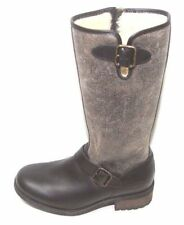 UGG Australia CHANCERY Stout BROWN Leather WOMEN Sz 5 Boots SHEARLING