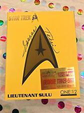STAR TREK 2016 MEZCO ONE:12 LIEUTENANT SULU SIGNED BY GEORGE TAKEI FREE SHIPPING