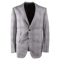 NWT $3695 OXXFORD Slate Gray Layered Check Wool Sport Coat 40 R