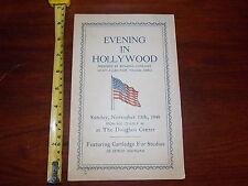 EVENING IN HOLLYWOOD WOMENS AUXILIARY 1949 HYATT ALLEN POST TOLEDO OHIO PROGRAM