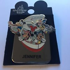 WDW Monorail JENNIFER Name Pin FAB 4 Mickey Minnie Goofy Donald Disney Pin 15004