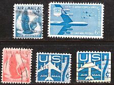 Scott C48-C52 Used Airmail, 1954-1958 Stamps