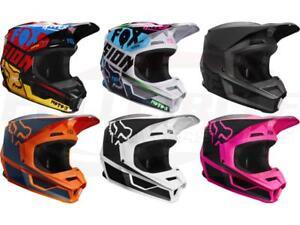 Fox Racing V1 MVRS Helmets Motocross Off-Road MX/ATV/MTBike Youth Sizes 2019