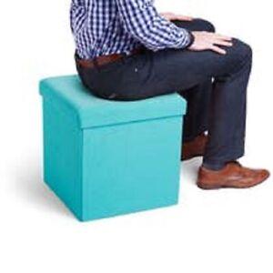New Poppin Box Seat, Aqua (102686)