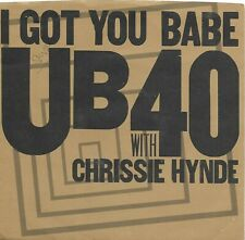 UB40 with Chrissie Hynde  (I Got You Babe) A&M 2758 + VG++ BROWN picture sleeve