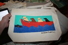 Stephen Huneck New 2000 Tote Bag for Friendship Sally Goes to the Beach Canvas