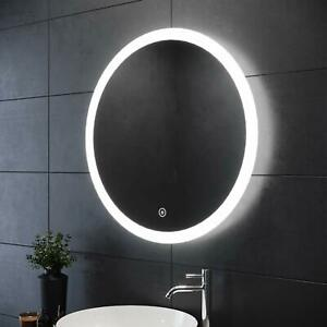 Waterproof Round LED ILLUMINATED Bathroom Mirror Touch/Demister/Gradient Light