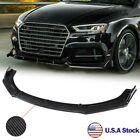 Us Carbon Fiber Front Bumper Lip Body Kit Splitter For Audi A3 A4 A5 A7 Rs5 Rs7