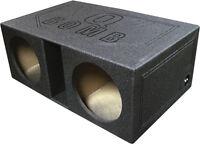 "Qpower QBOMB12VL Dual 12"" Vented Extra Larege Spl Woofer Box ""q Bomb"""