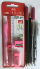 Brand New Pink Faber-Castell Needle Grip Stationery Set
