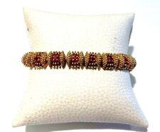 Estate Tiffany & Co 18k Yellow Gold Ruby Bracelet