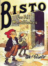 Bisto For All Meat Dishes large steel sign  400mm x 300mm (og)