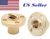 2Pcs TR8 Brass Trapezoidal 8mm  Lead Screw nut pitch 2 lead 8 (4 starts)