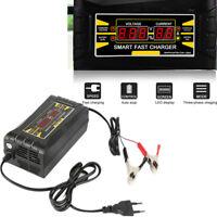 KFZ LKW Batterie Ladegerät 12V 10A LCD-Anzeige Dreiphasen Lademodus EU Version