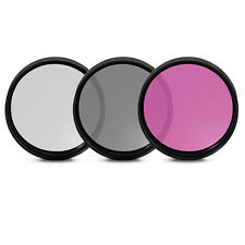 ULTIMAXX 3 Piece Multi Coated Professional HD Filter Kit 40.5mm (UV, CPL, FLD)