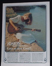 1981 Daion handcrafted acoutic guitar Love at first chord photo print Ad