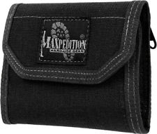"Maxpedition CMC Wallet 0253B Closed, empty size: 5"" L x 3.5"" H x 1"" W. Open, emp"