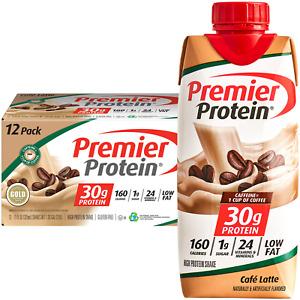 Premier Protein Shake, Café Latte, 30g Protein, 11 Fl Oz, 12 Ct