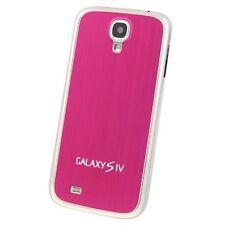 Hülle f Samsung Galaxy S4 i9500 Alu Aluminium Akku Deckel Case Cover Tasche pink