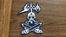 SODOM + LOGO,IRON ON WHITE EMBROIDERED PATCH
