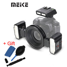Meike MT24 Macro Ring Flash w/ Adapter Ring for Nikon SLR Camera + cleaning kit