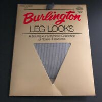 Vintage Leg Looks By Burlington Pantyhose Size Small Striped Lines Greystone NEW