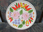"""KALOCSA HAND PAINTED PORCELAIN DECORATED BEAUTIFUL WALL PLATE 7 1/2"""""""