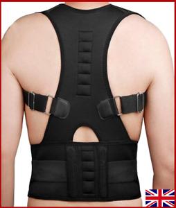 Neoprene Magnetic Posture Corrector Back Support Bad Back Brace Belt