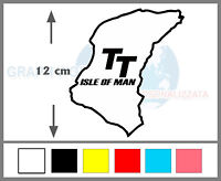 Adesivo circuito TOURIST TROPHY TT ISLE OF MAN sticker in vinile tuning